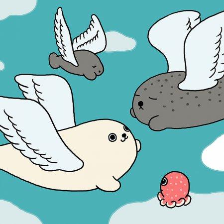 тюлень в полете
