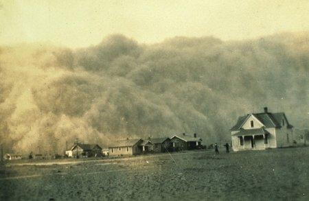 Пылевая буря в Техасе. 18 апреля 1935.