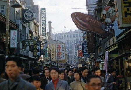 Японская улица, 1950.