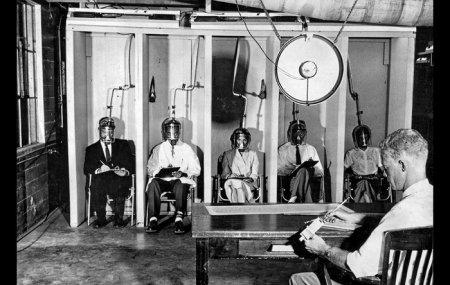 Испытание воздействия смога на людей. 28 июня 1956.