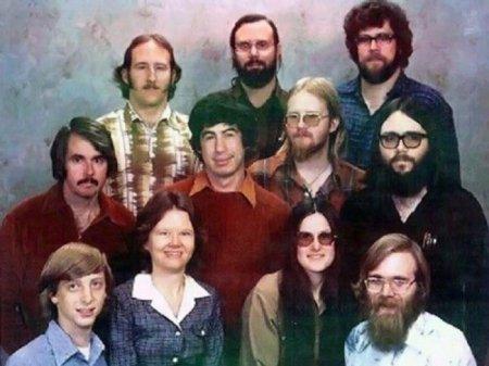 7 декабря 1978 года. Полный состав сотрудников компании Microsoft на одном фото.