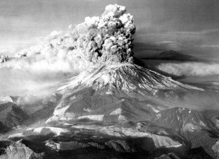 Вулкан Сейнт-Хеленс – Вашингтон, Соединенные Штаты (май 1980)
