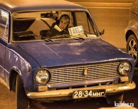 бабуля за рулем такси