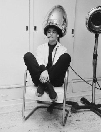Одри Хепберн под сушилкой, 1953.