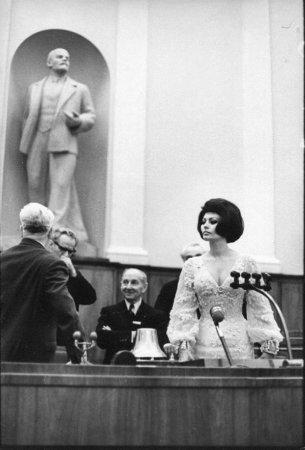 Софи Лорен в Кремлёвском дворце, 1965.