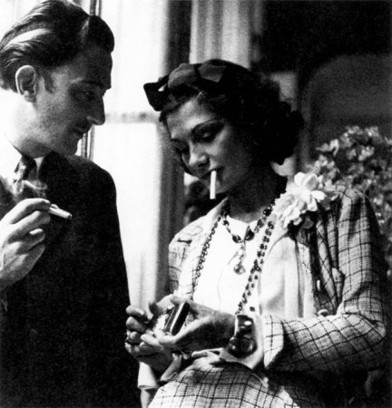 Коко Шанель и Сальвадор Дали, 1930.