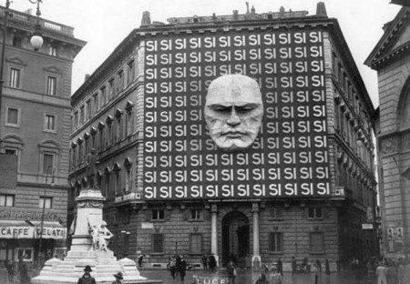 Штаб фашистской партии Муссолини, 1934 год