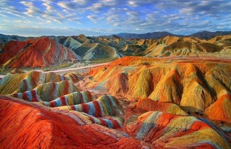 Ландшафт Данься, провинция Ганьсу, Китай