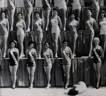 Мисс Новая Зеландия падает в обморок на конкурсе «Мисс Вселенная», Лонг Бич, 1954