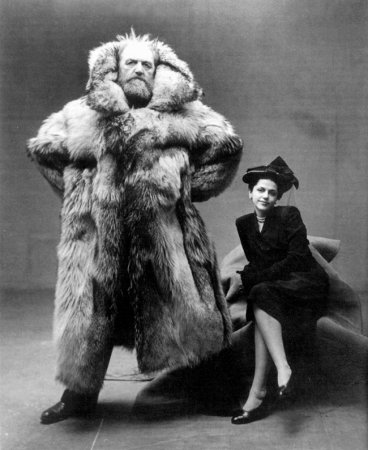 Полярный исследователь Петер Фрейхен со своей супругой, 1947