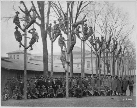 Групповое фото электриков, 1918