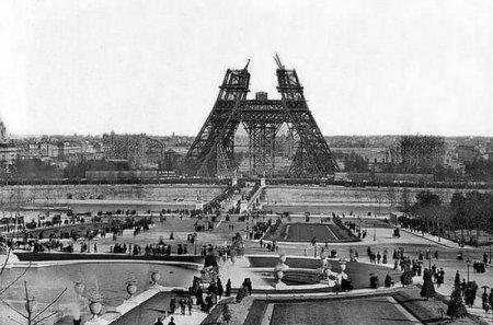 Строительство Эйфелевой башни, 1880