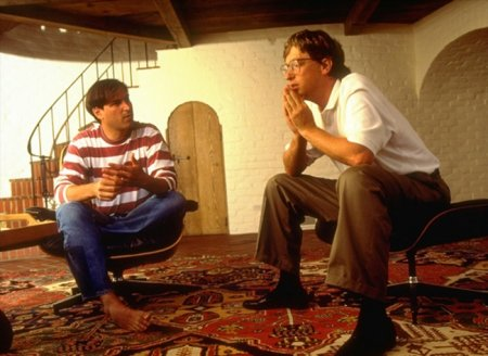 Стив Джобс и Билл Гейтс, 1991