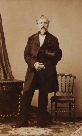 Жорж Шарль Дантес - убийца Александра Сергеевича Пушкина, 1860