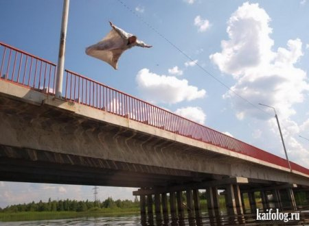 прыжок с моста
